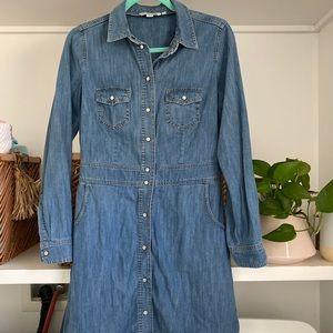 Boden Long Sleeve Denim Dress